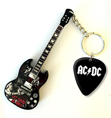 Music Legends ACDC Angus Young Gitarren-Keyring & Matching Plektrum U/SS