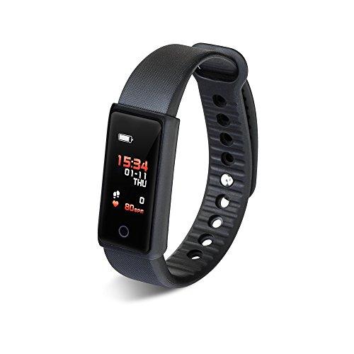 AURTEC Smartwatch Intelligente Armbanduhr, SAVFY IP65Wasserdicht Fitness Tracker, Bluetooth 4.0Armband Fitness mit Blutdruck/Pulsoxymeter und Pulsmesser für iPhone IOS/Android
