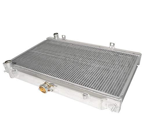 AJP Distributors JDM 2 Row Dual Core Aluminum Racing Cooling Radiator Manual M/T For 1995 1996 1997 1998 95 96 97 98 Nissan 240SX S14 KA24 KA24DE