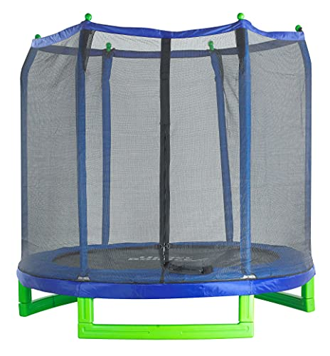 Upper Bounce 7' Classic Kids Trampoline&Safety Enclosure...
