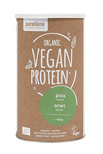 Purasana - Single Protein powder 400 gramme - Poudre de protéines végan - Protéines végétales pois - Très concentré Isolat de protéine de pois végétal