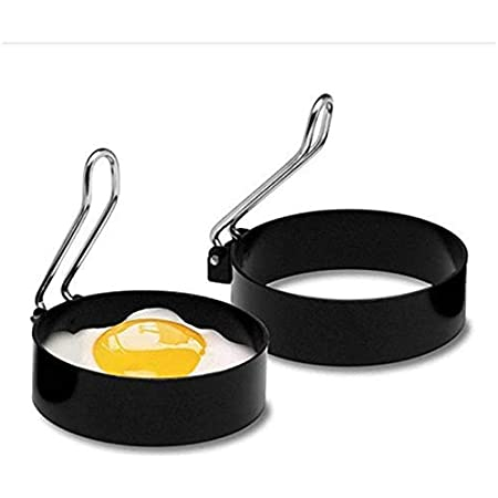目玉焼き金型 卵フライヤー ハンドル付き 目玉焼きの金型 エッグリング ステンレス製 お菓子作り 手作り DIY お手入れ簡単 愛の朝食を楽しみ 2枚セッ