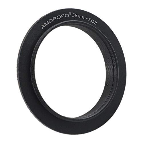 Anello adattatore per anello di inversione da EOS 58mm. Per fotocamere Canon EOS T6s (760D), T7i,T6,SL1 (100D) e XS (1000D),60D &70D,77D, 80D,10D,20D,30D,40D,50D,5D Mark II,5D Mark III.