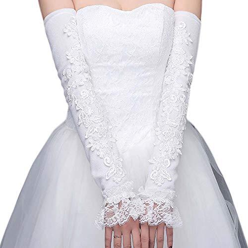 Gants de mariée mariage robe de soirée dentelle longs gants A02