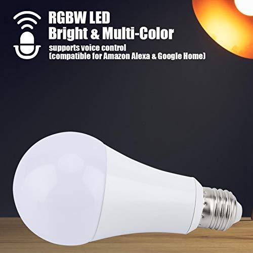 Omabeta Luz Multicolor RGB-CW Sin Parpadeo E27 Luz RGB-CW Bombilla de luz RGB-CW Material Agradable a la Vista para la Oficina en casa(RGB-CW, 18W)