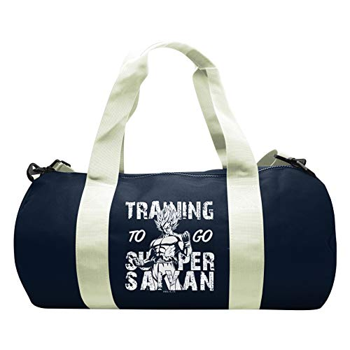 ABYstyle - Dragon Ball - Training to go Super Saiyan Trainingstasche - Navy/Weiß