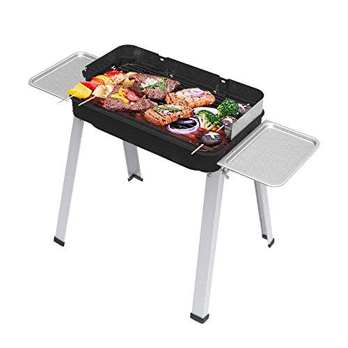Griglia Barbecue Carbonella Rimovibile Portatile Esterno BBQ in Acciaio Inox con Gambe Estraibili