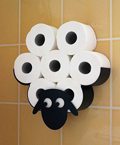 DENK Toilettenpapierhalter Schaf Wandmontage aus Metall Toilettenrollenhalter WC Ersatzrollenhalter Klopapierhalter