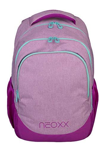 neoxx Fly Schulrucksack You Glow Girl! - Rucksack für die Schule, Leichter Schulranzen aus recycelten PET-Flaschen, Schultasche für Mädchen und Jungen