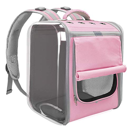 WWWL Mochila para mascotas con transportín para gatos y gatos, transpirable, bolsa de hombro para perros pequeños, gatos, portátil, embalaje de transporte de suministros para mascotas, 35 x 30 x 40 cm