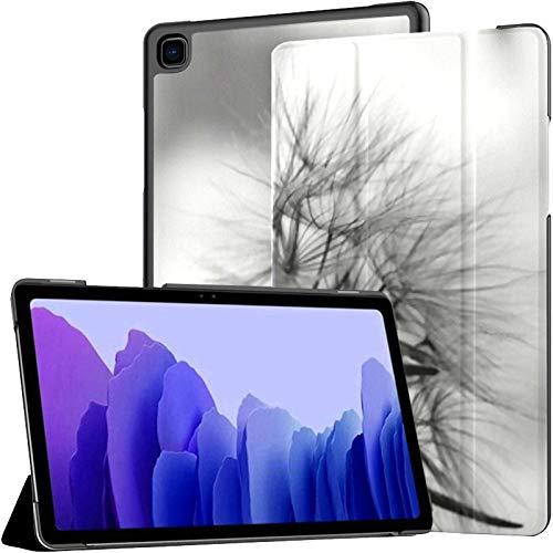 Funda para Tableta Samsung A7 Funda de Diente de león Esponjoso Blanco y Negro para Samsung Galaxy Tab A7 10,4 Pulgadas Funda Protectora de liberación 2020 Funda Samsung Galaxy A7 Funda para Tableta