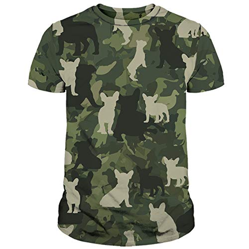 Tea Beannie French Bulldog Lovers Gift Cute Dog Dogs Veteran Camo Camouflage Full Printed All Over Print 3D Shirt