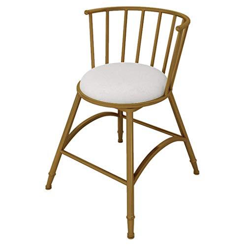 MTCGH Stühle, Hochstühle, Barstühle, Hocker Barhocker Rückenlehne Bar Stuhl Esszimmerstuhl Küche Komfortabel Gepolstertes Restaurant Frühstück, Starke Eisenbeine,45 cm,45 cm