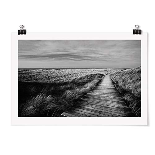 Bilderwelten Poster Motiv - Dünenweg auf Sylt II - Selbstklebend seidenmatt 30 x 45cm
