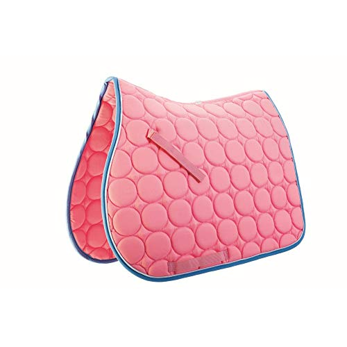 Roma Circle Quilt AP Saddle Pad Pink/White/Blue