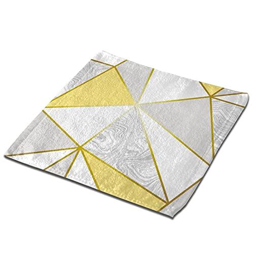 Home Toallas de mano toalla de fibra superfina, Zara Marble Metallic Mustard Gold Small Toallas Toallas de cocina Toallas de bebé Toallas cuadradas suaves absorbentes 2 PCS Set 12.9 pulgadas