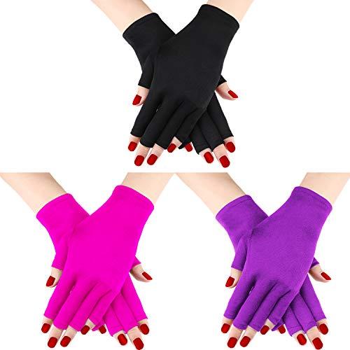 Guanti da 3 paia di guanti protettivi per guanti anti-UV Guanti anti-UV per guanti protettivi proteggono le mani dai raggi UV della lampada (Set di colori 3)