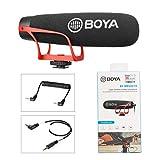 BOYA Microfono a condensatore direzionale super cardioide per iPhone, smartphone, Nikon, Canon, Sony, fotocamera DSLR, video camera