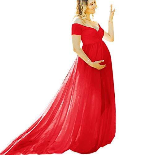 Vectry Vestidos Fiesta Premama para Boda Ropa Fotos Embarazada Vestido Premama Blanco Tallas Grandes Vestidos De Fiesta Vestidos De Verano Vestidos Mujer Casual