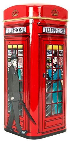 Engelse thee in Britse iconische gelddoos blik, de erfgoedcollectie - 14 theezakjes Rode telefoon