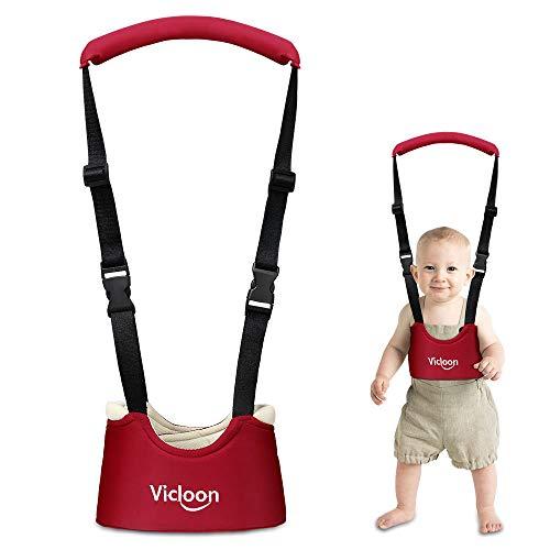 Vicloon Baby Kinder Lauf Schutz Gurt lauflernhilfe Lauflerngurt für Baby 8-18 Monate Rot