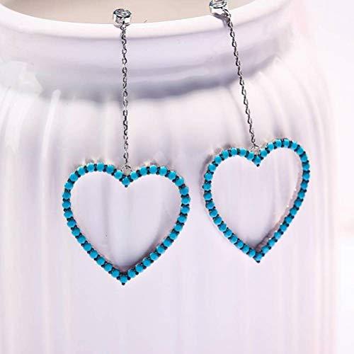 LOt Pendiente de Gota para el Oído S925 Aguja de Plata Pendientes de Circonita de Diamantes de Estilo Coreano Temperamento de Mujer Pendiente de Lazo con Forma de Lazo Pendientes de Perlas de Joyería