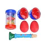 Bonito juego de juguetes de instrumentos polacos y de tamaño compacto, castañuelas de dedo, para educación musical, regalo de Navidad, niños, niños, para tocar, gran instrumento musical,