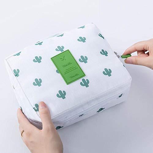 Huien Vrouwen Multifunctionele make-up tas Reisorganisator Waterdicht Draagbaar Make-up tas met grote capaciteit Opslag Beautycase Waszakje, 21