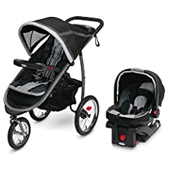 "Includes the Graco SnugRide 35 Infant Car Seat, rear facing for infants from 4 35 pound and up to 32"" One second, one hand fold provides the Ultimate in convenience for moms on the go Air filled rubber tires offer suspension for a smooth ride on any ..."