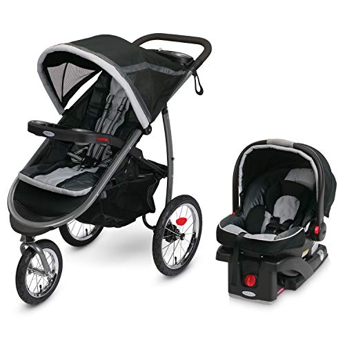 Graco FastAction Fold Jogger Travel System | Includes the FastAction Fold Jogging Stroller and...