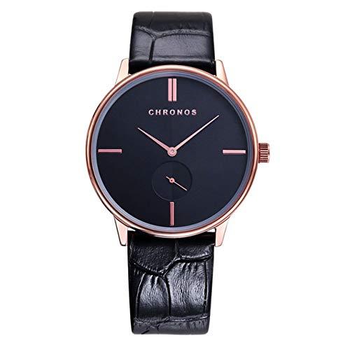 GKXAZ Paar Uhren Luxus-beiläufige Quarz-Armbanduhr-wasserdichte Frauen Uhren des Geliebten (Color : CH0303)