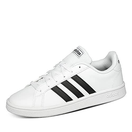 Adidas Grand Court Base, Scarpe da Tennis, Uomo, Bianco (ftwr white/core black/dark blue), 42 2/3 EU