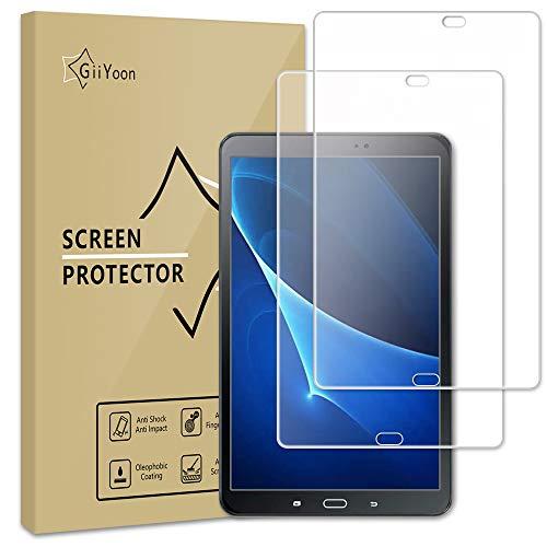 GiiYoon-2 Piezas Protector Pantalla para Samsung Galaxy Tab A 10.1 2016 (SM-T580/T585/T581) Cristal Templado,[Sin Burbujas] [Alta Definicion] [9H Dureza] Vidrio Templado
