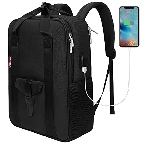 BARST Slim Laptop Backpack Business Work Bag With USB Charging Port Computer Rucksack School Backpack for Men Women College University School Gifts Fits 15.6 Inch Laptop