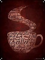 コーヒーカコフォニー 金属板ブリキ看板警告サイン注意サイン表示パネル情報サイン金属安全サイン