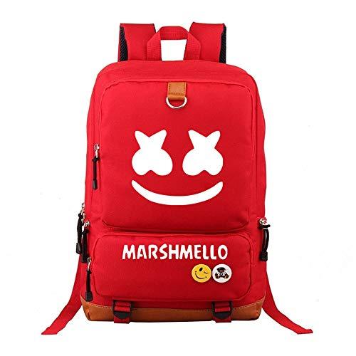 mochila marshmello fortnite Marshmello Mochilas Escolares Juveniles Mochila de Lona Unisex colección de Mochila portátil Libro Mochila Bolsa de Senderismo (Color : A02, Size : 44 X 29 X 13cm)