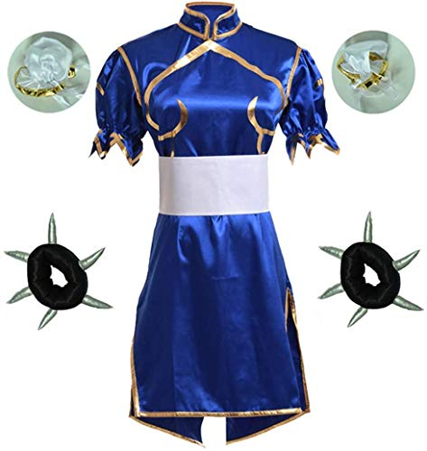 ストリートファイター 春麗 Chun-Li コスプレ衣装 ハロウィン 仮装変装 コスチューム (XS)