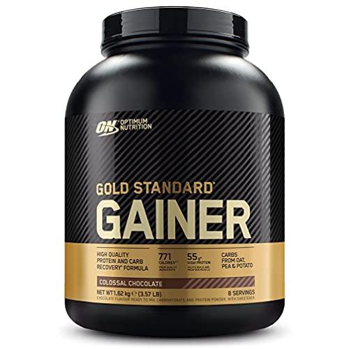Optimum Nutrition ON Gold Standard Gainer, Mass Gainer, Proteine in Polvere per la Massa Muscolare e Recupero, Cioccolato, 8 Porzioni, 1.62 kg