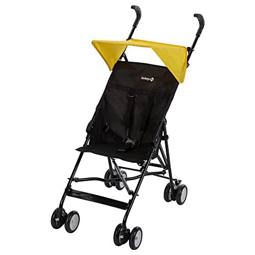 Safety 1st Peps Buggy mit Sonnenverdeck, Wendiger Kinderwagen Nutzbar ab 6 Monate Bis max. 15 kg, Kompakt Zusammenfaltbar, Wiegt nur 4, 5 kg, Yellow Triangle (gelb)