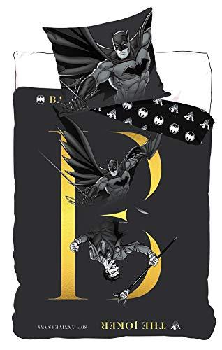 BrandMac DC Batman und Joker Bettwäsche, 200 x 135 80 x 80, 100% Baumwolle, Deutsche Standardgröße