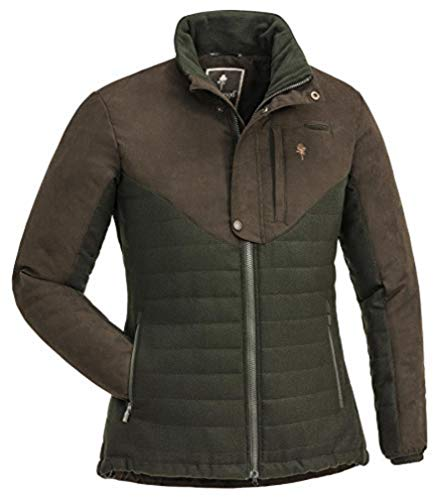 Pinewood 3882 Edmonton Exclusive Veste pour femme XL Vert mousse/marron daim (182).
