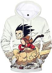 PANOZON Sudadera para Hombre Impresa Dragon Ball Chaqueta Deportiva Anime Japonés Estilo Casual