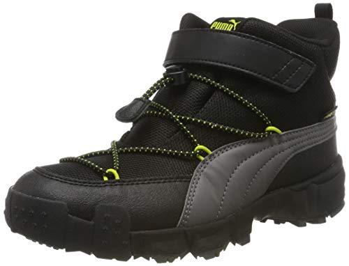 PUMA Unisex-Kinder Maka Puretex V Ps Sneaker, Grau (Castlerock-Nrgy Yellow), 30 EU