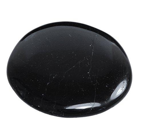 Schwarzer Turmalin Handschmeichler