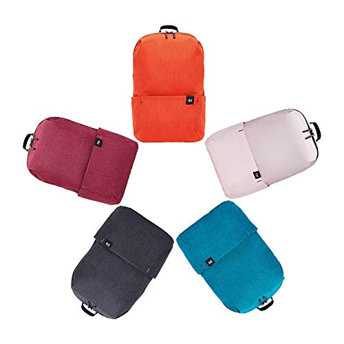 Xiaomi Mi Casual Daypack 5 Packungen Wasserdichter Unisex Rucksack 5 Farben(Schwarz+Blau+Orange+Rot+Rosa)