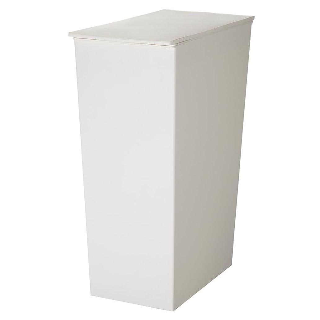 彫る更新するスリルI'mD(アイムディ) ゴミ箱 クード シンプル スリム ホワイト KUDSP-SLW