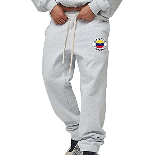 CYGJ Pantalones de chándal con Estampado de Venezuela Pantalones de chándal para Hombre Pantalones de salón con cordón con Pantalones Deportivos con Bolsillos Dobles, S-XXXL