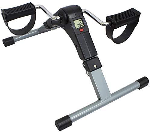 Mini bici de ejercicio Sentado ejercitador estacionario bicicleta de pedales para las piernas y brazos de pedal ejercitador con pantalla digital con resistencia ajustable - Mini bicicleta estática