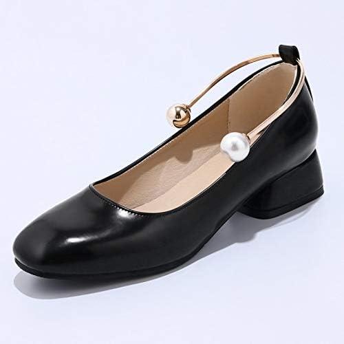 ZHZNVX Chaussures Femme Femme en Cuir Verni Printemps & Eté Confort Talons Talon Chunky Noir Beige  100% garantie d'ajustement