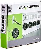 GAH-Alberts 801960 - Juego de soportes para llantas (galvanizados, incluye 4 ganchos de acero, 8 tornillos y tacos, muy estables)